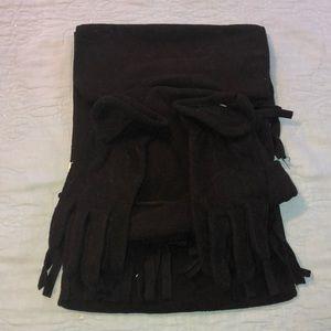 New St John's Bay Black Micro Fleece 3-pc Set